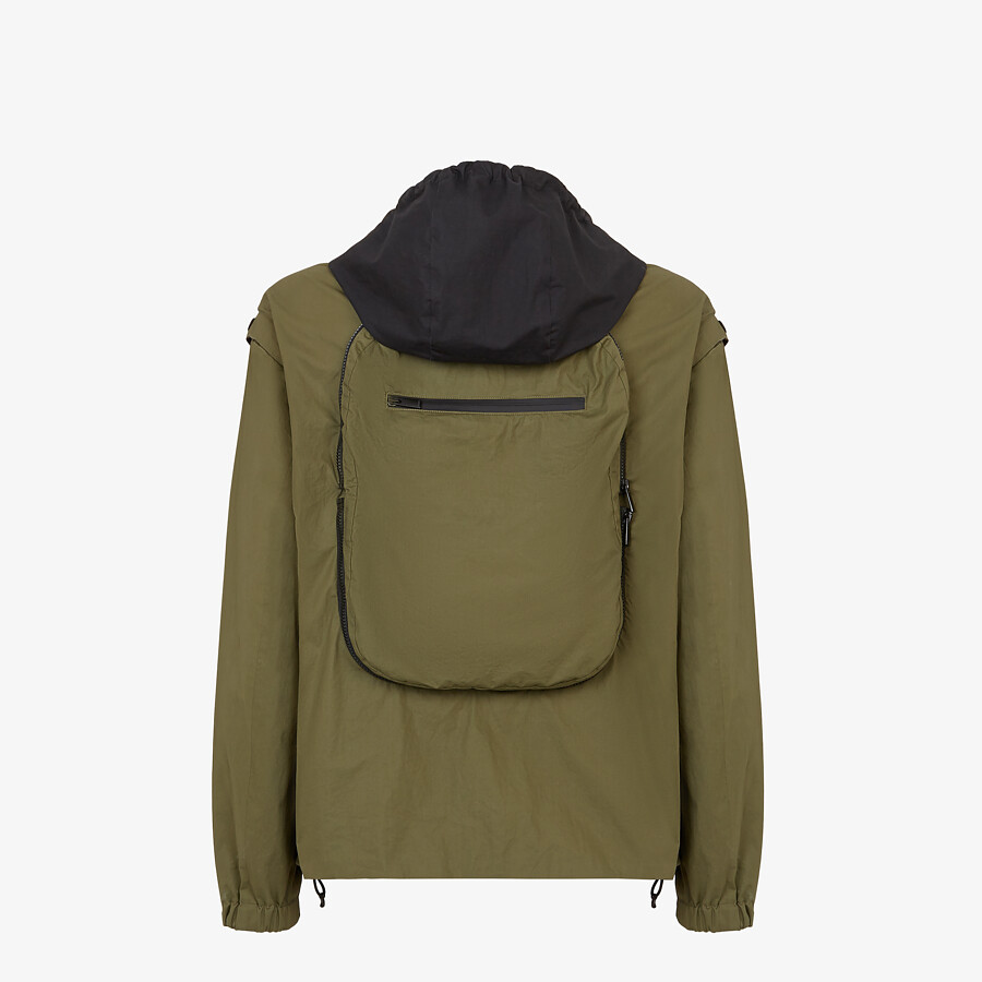 FENDI WINDBREAKER - Multicolor nylon jacket - view 2 detail