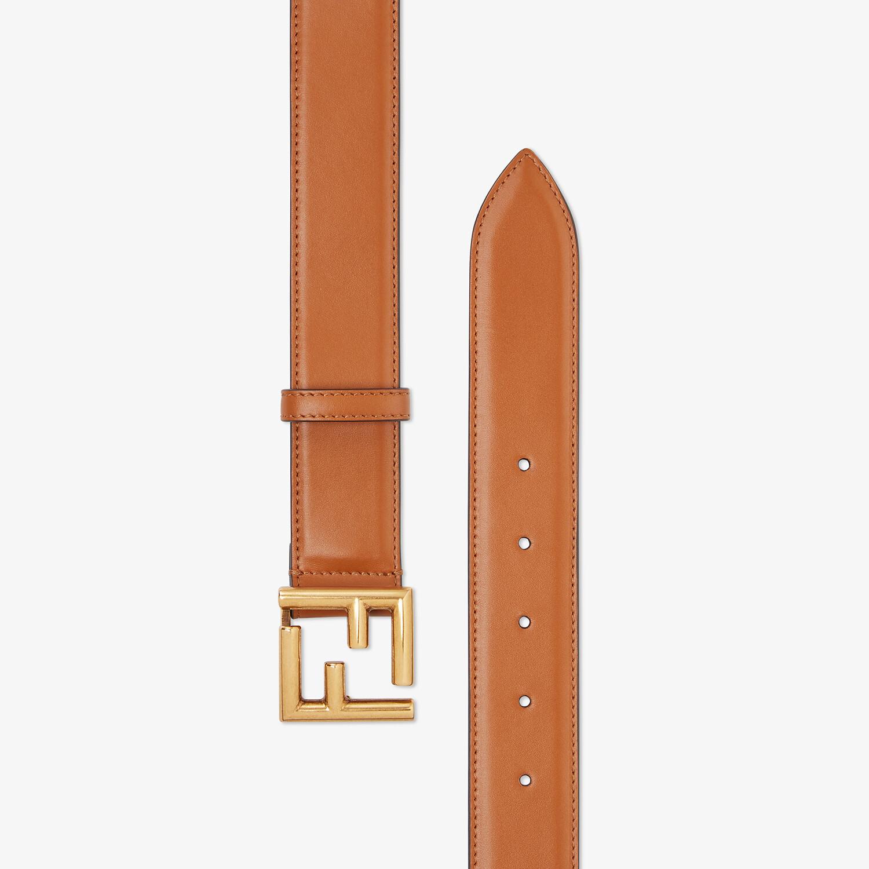 FENDI BELT - Natural-colored leather belt - view 2 detail