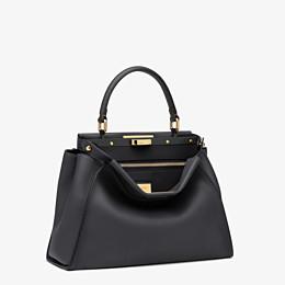 FENDI PEEKABOO ICONIC MEDIUM - Black leather handbag - view 3 thumbnail