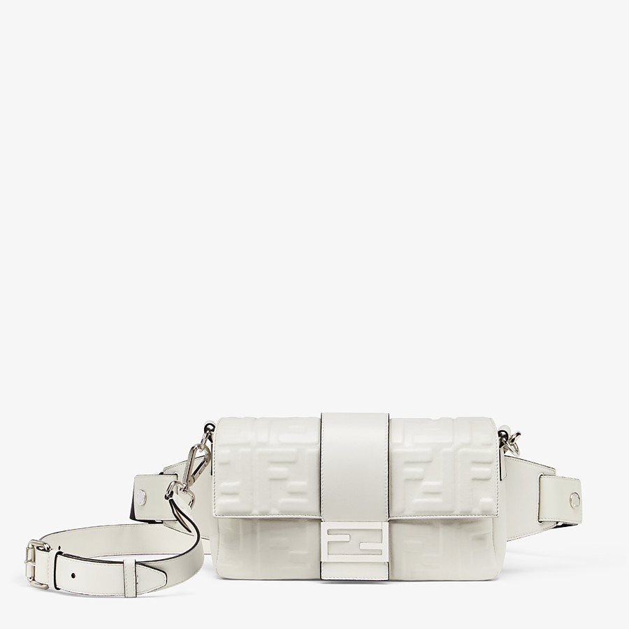 FENDI BAGUETTE - White nappa leather bag - view 1 detail