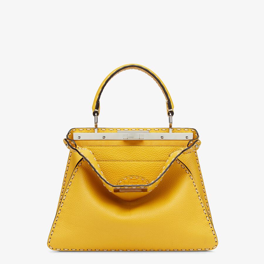 FENDI PEEKABOO ISEEU MEDIUM - Yellow full grain leather bag - view 1 detail