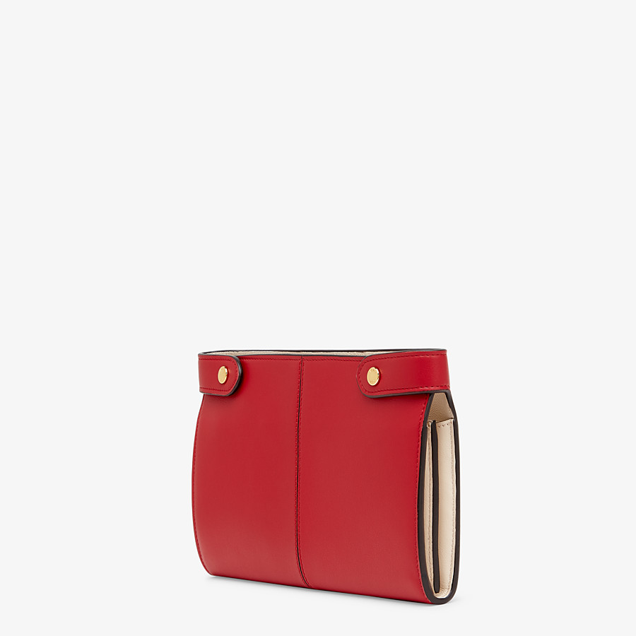 FENDI WALLET - Red leather wallet - view 2 detail