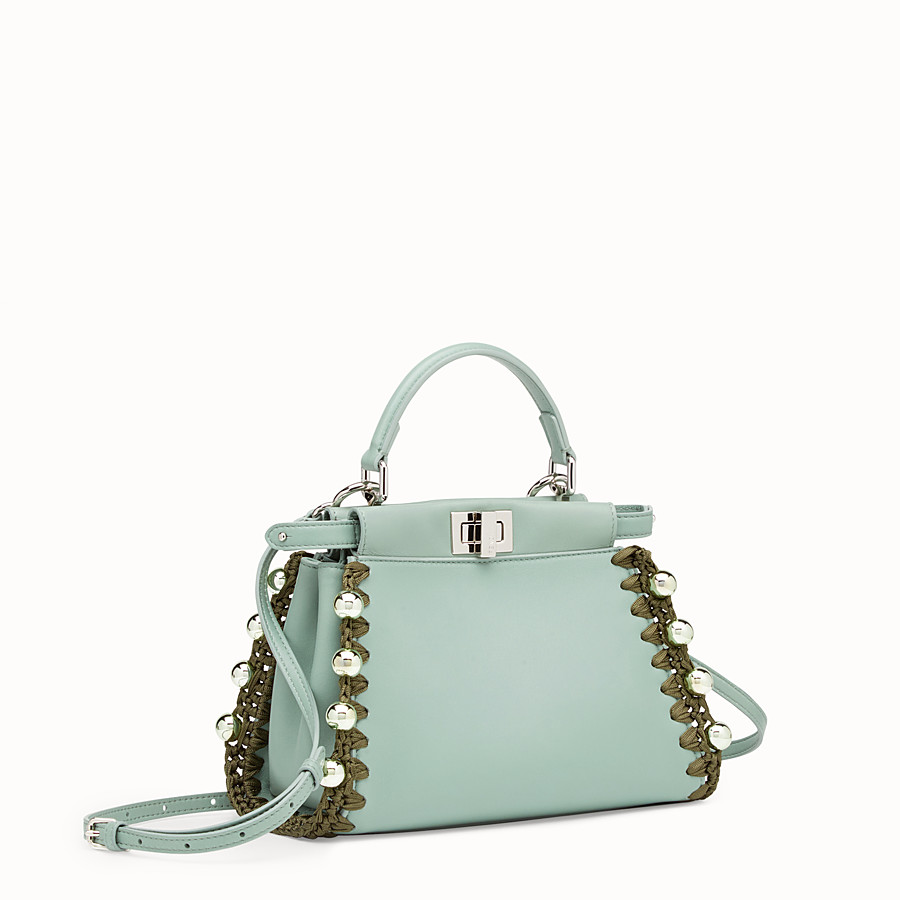 FENDI PEEKABOO MINI - Sac en cuir vert - view 2 detail