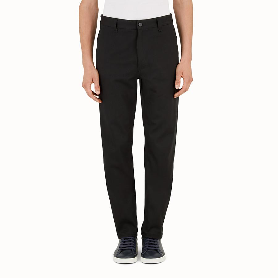 FENDI JEANS - Hose aus schwarzer Baumwolle - view 1 detail