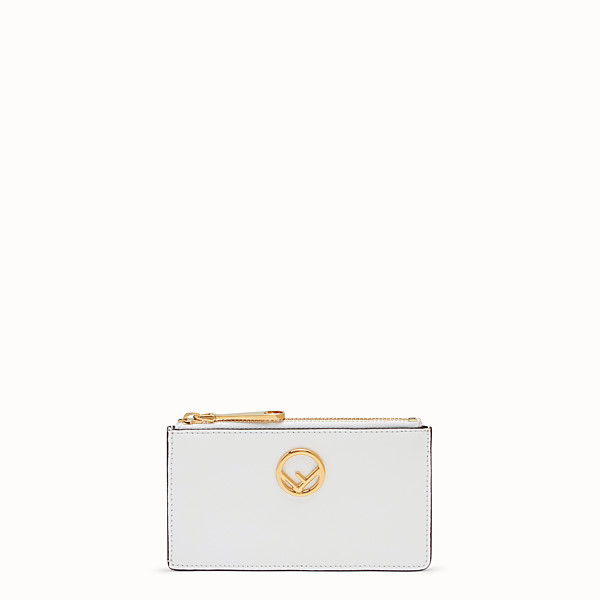 FENDI CARD POUCH - White leather card holder - view 1 small thumbnail