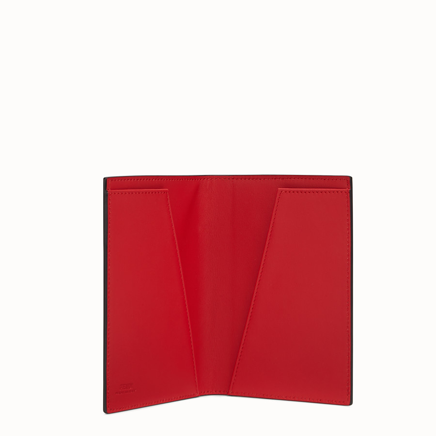 FENDI PASSPORT COVER - Black leather passport cover - view 3 detail
