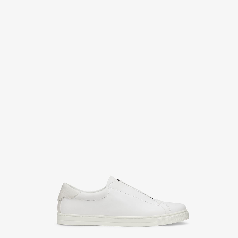 FENDI SNEAKER - Slip on in pelle bianca - vista 1 dettaglio