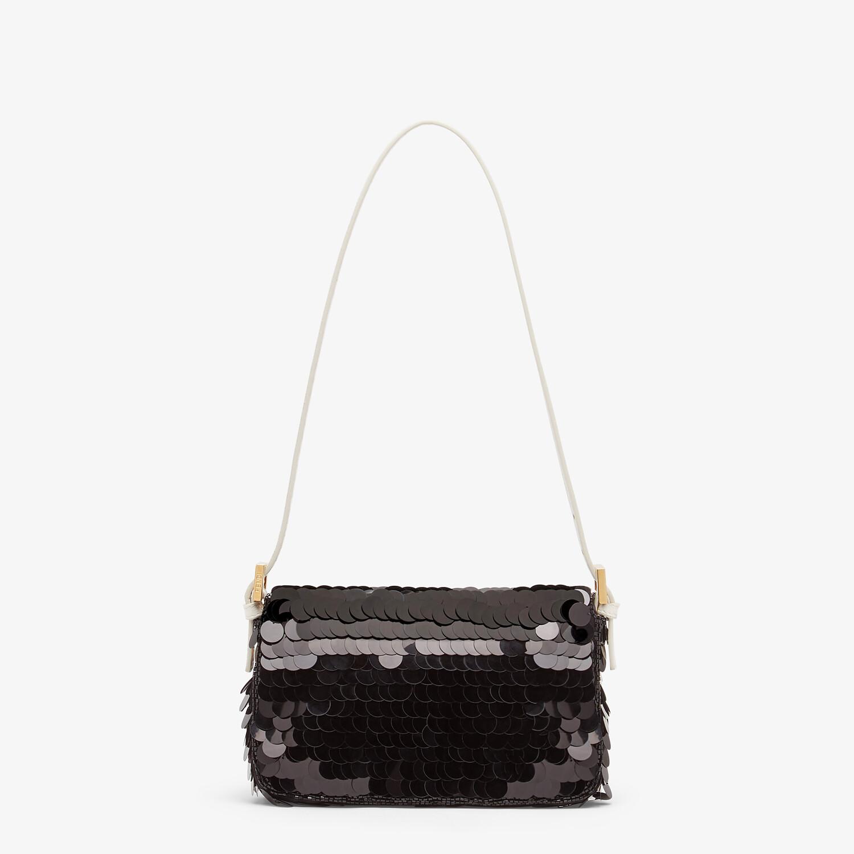 FENDI MINI BAGUETTE 1997 - Black satin bag with sequins - view 3 detail