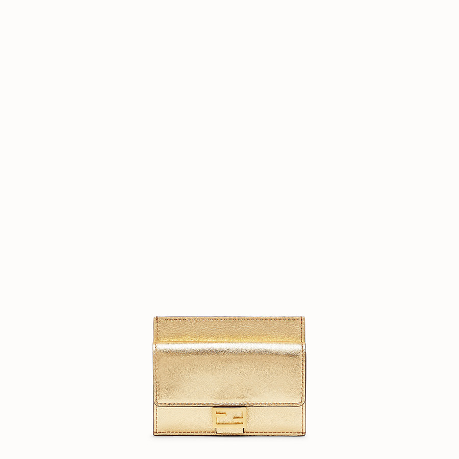 FENDI CARD HOLDER - Gold leather cardholder - view 1 detail