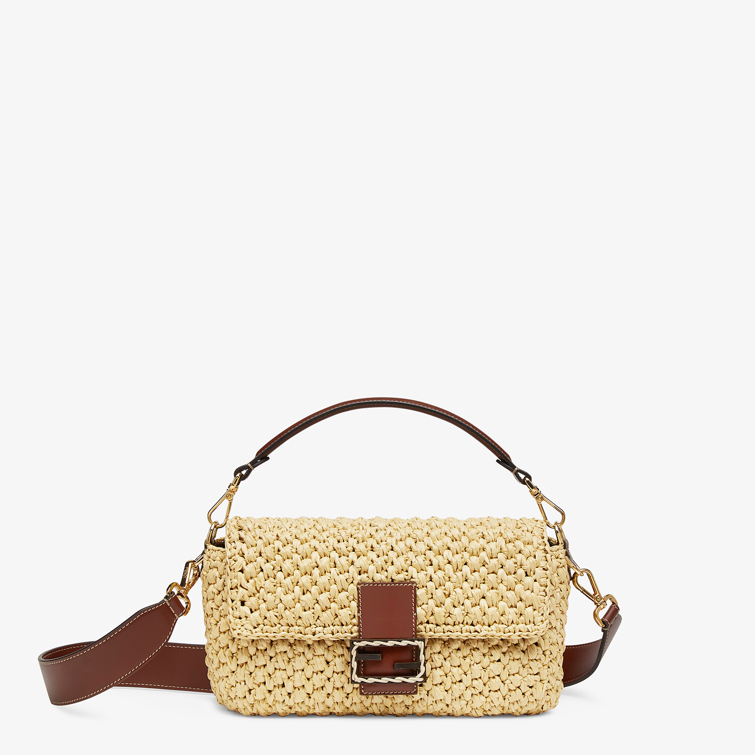 FENDI BAGUETTE - Woven straw bag - view 1 detail
