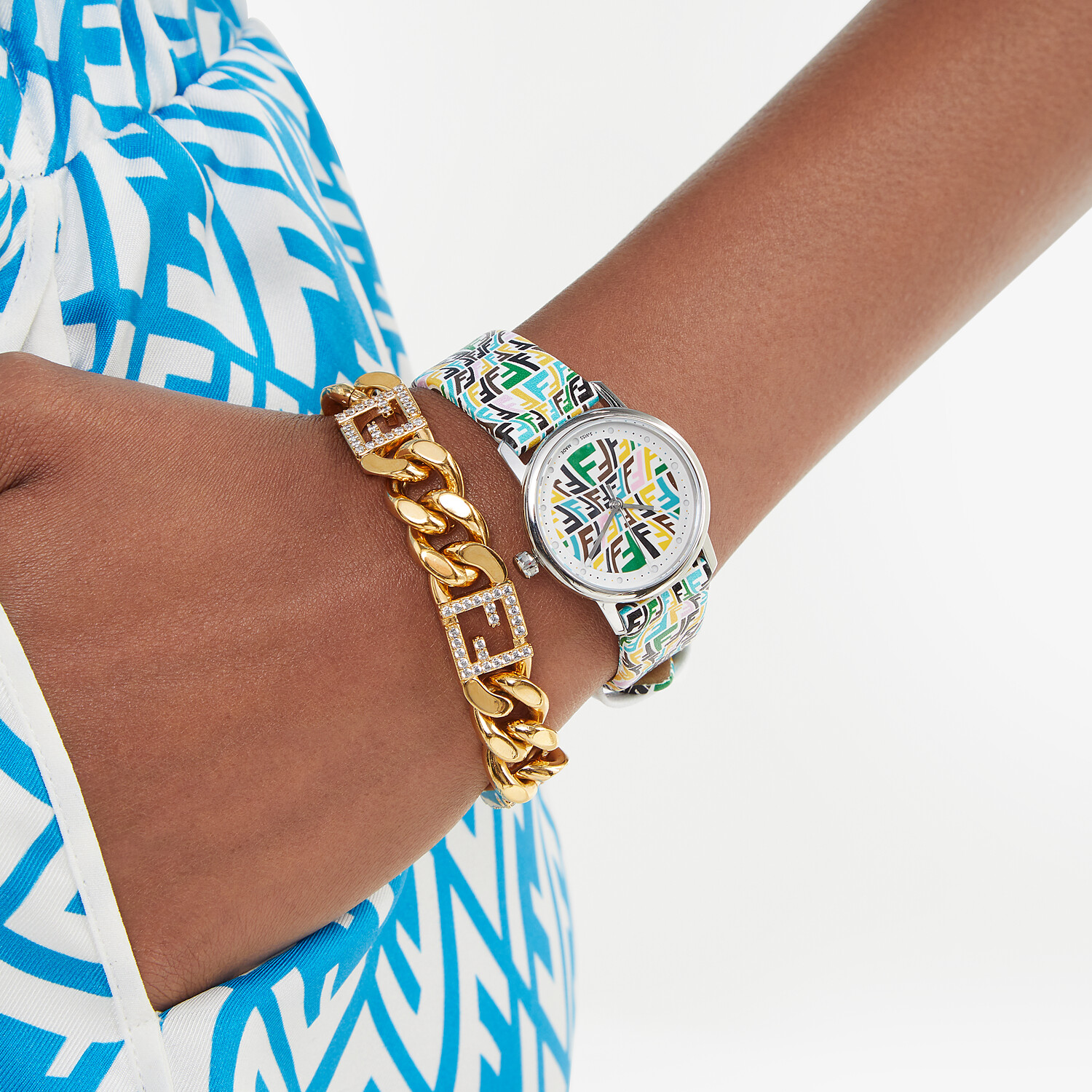 FENDI FOREVER FENDI - 29 MM - Watch with printed FF pattern - view 4 detail