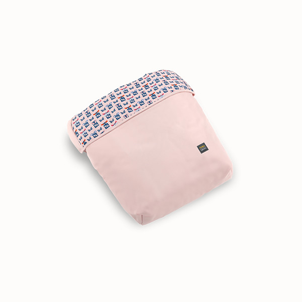 FENDI FOOTMUFF - Pink fabric footmuff with monster pattern - view 1 small thumbnail
