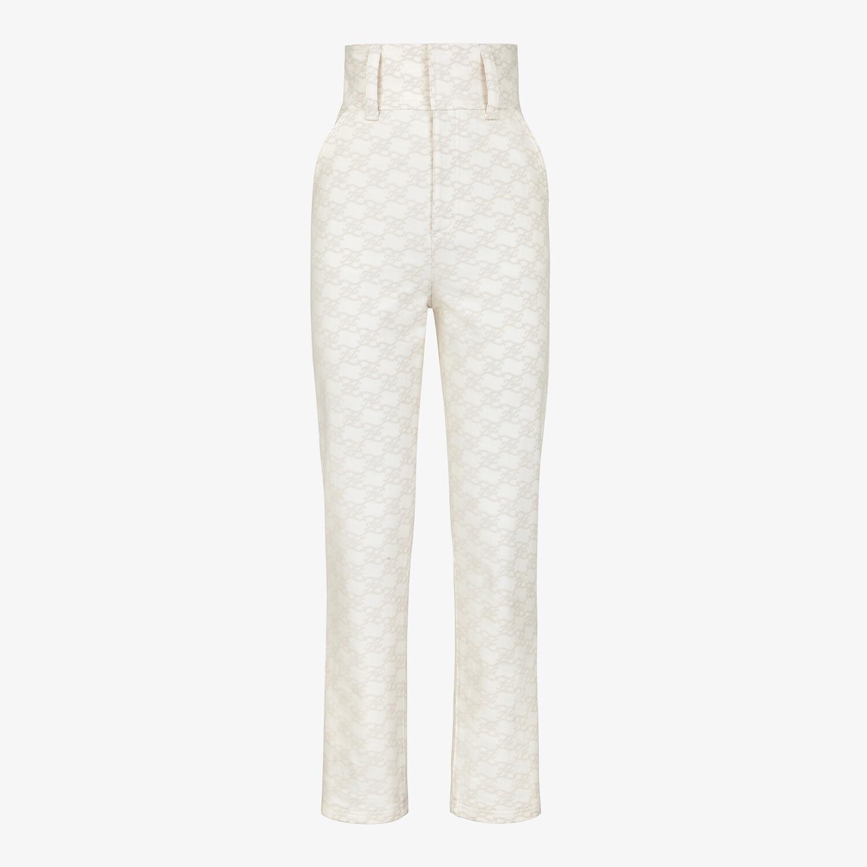 FENDI PANTS - White denim pants - view 1 detail