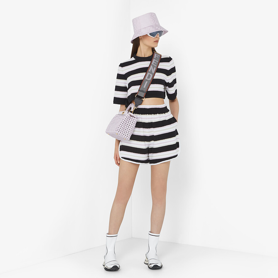 FENDI SHORTS - Multicolour cotton shorts - view 4 detail
