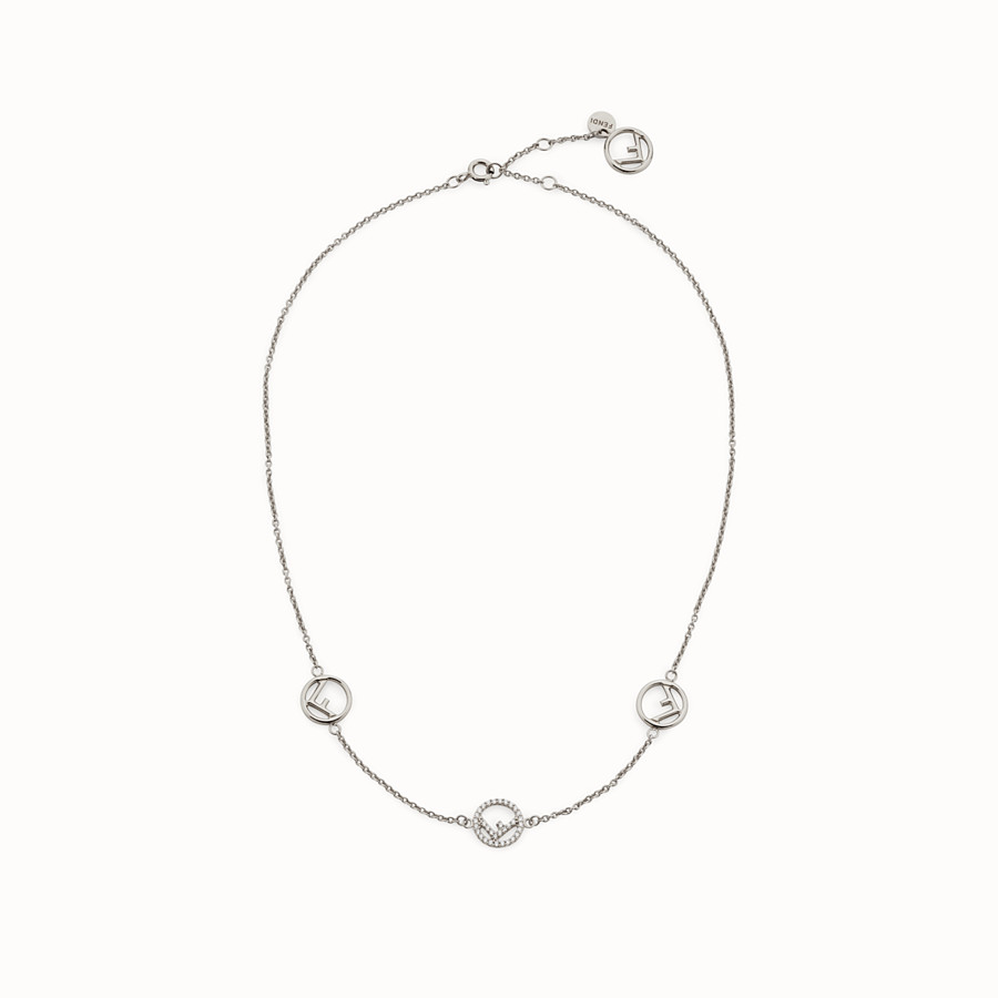 FENDI F IS FENDI NECKLACE - Palladium-coloured necklace - view 1 detail
