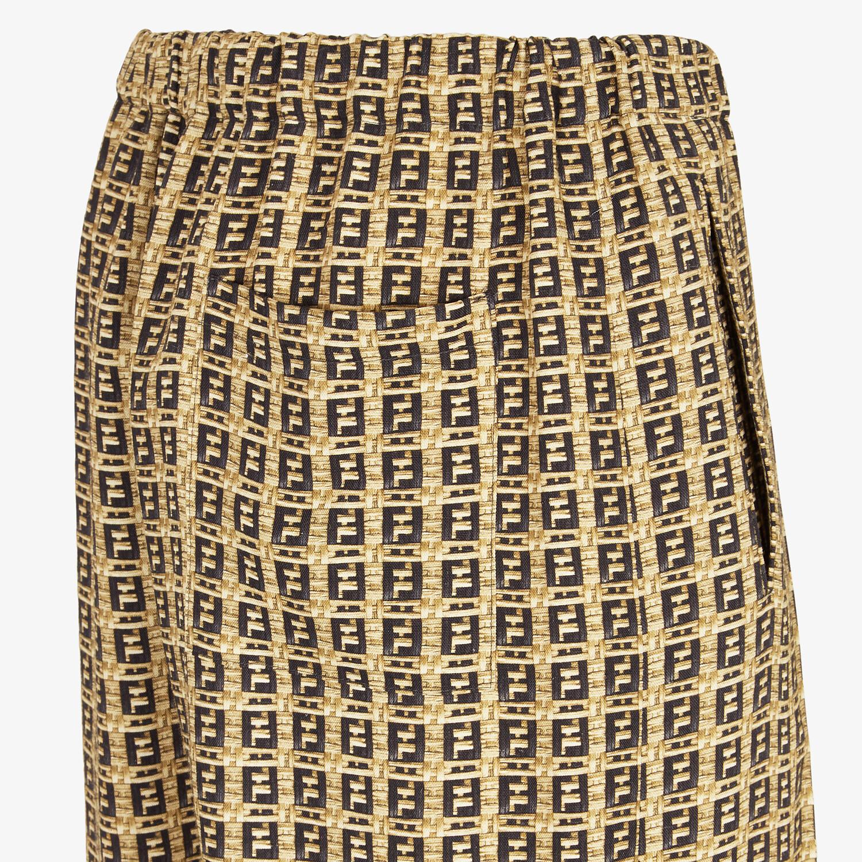 FENDI TROUSERS - Beige gabardine trousers - view 3 detail