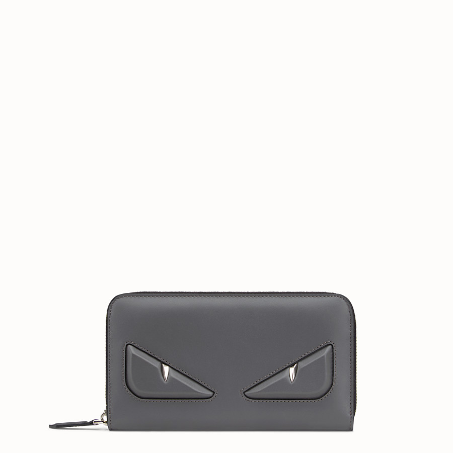 FENDI WALLET - Grey leather wallet - view 1 detail
