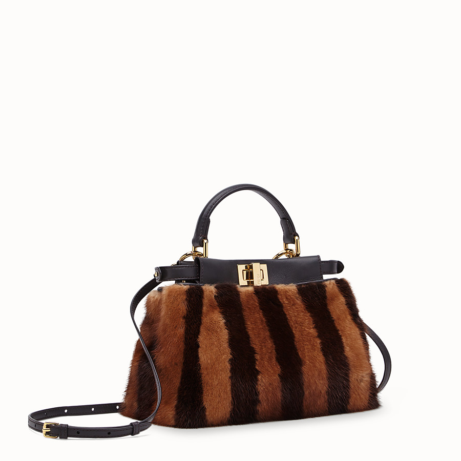 FENDI PEEKABOO ICONIC MINI - Black mink bag - view 2 detail