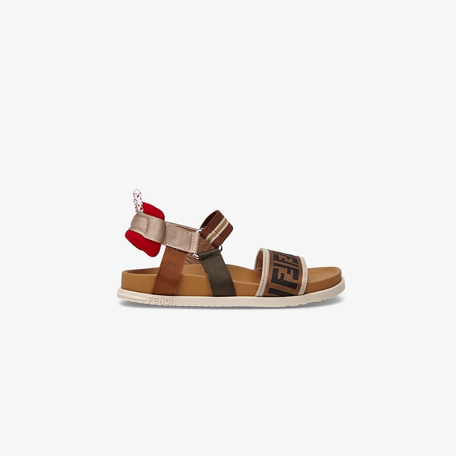FENDI SANDALS - Fabric unisex junior sandals - view 1 detail