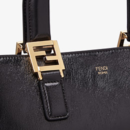 FENDI FF TOTE SMALL - Black leather bag - view 6 thumbnail