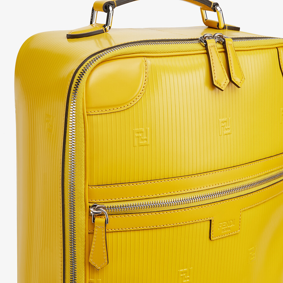 FENDI TRAVEL BACKPACK - Yellow leather backpack - view 5 detail