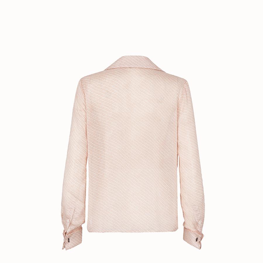 FENDI CAMICIA - Blusa in seta cloque rosa - vista 2 dettaglio