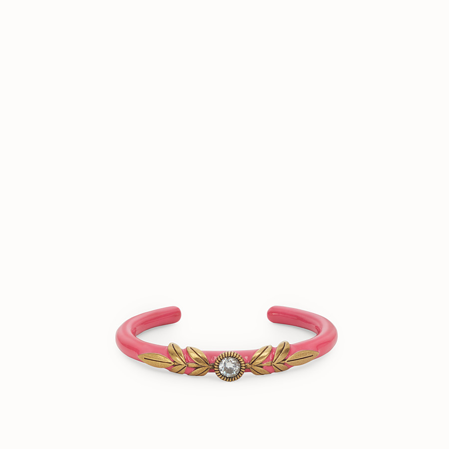 FENDI JULIUS CAESAR BRACELET - Fuchsia and gold-coloured bracelet - view 1 detail