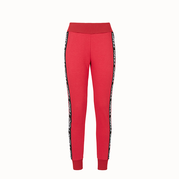FENDI TROUSERS - Pink fabric jogging trousers - view 1 small thumbnail