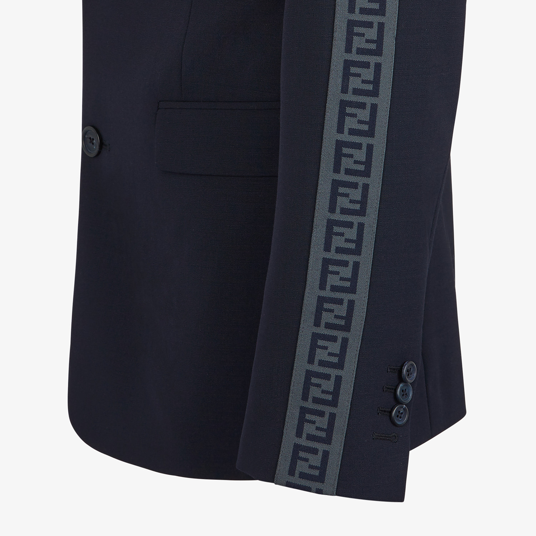 FENDI JACKET - Blazer in blue cool wool - view 4 detail