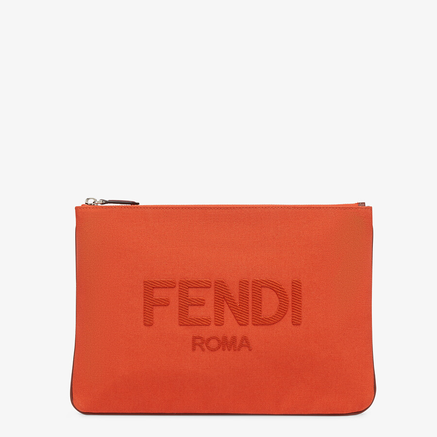 FENDI POUCH - Red canvas pouch - view 1 detail
