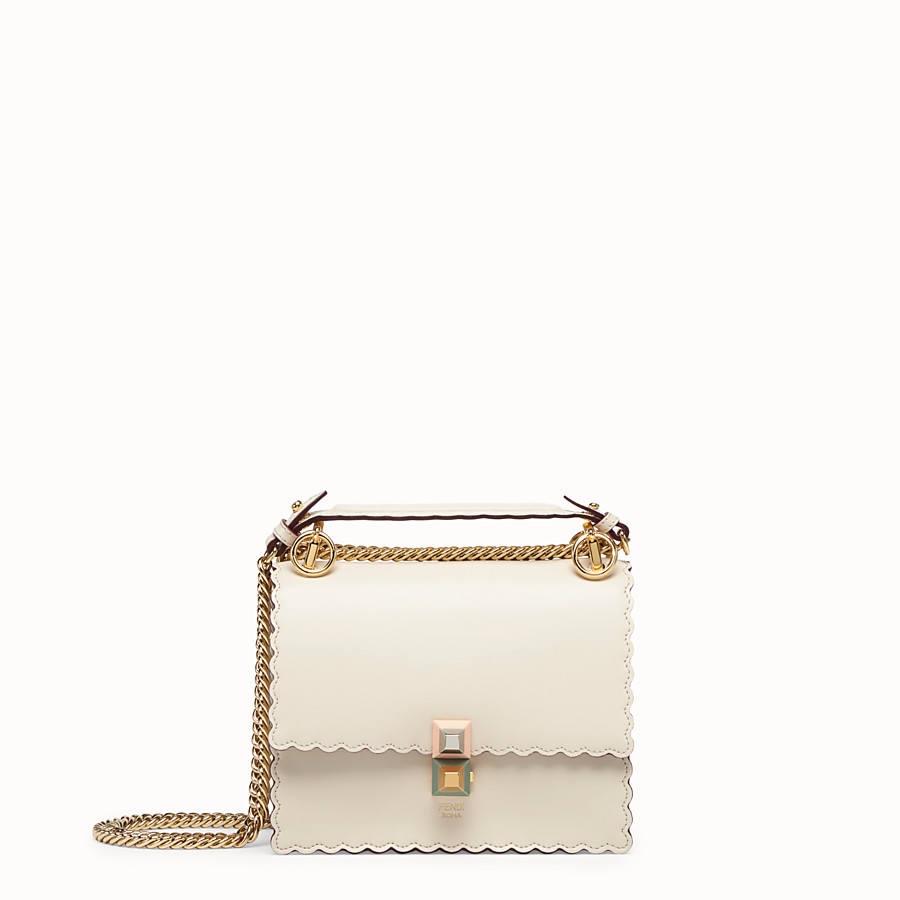 FENDI KAN I SMALL - Mini sac en cuir blanc - view 1 detail
