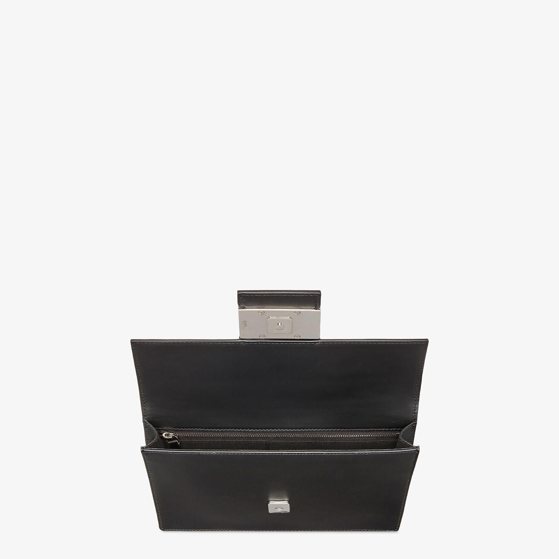 FENDI FLAT BAGUETTE - Black leather bag - view 4 detail