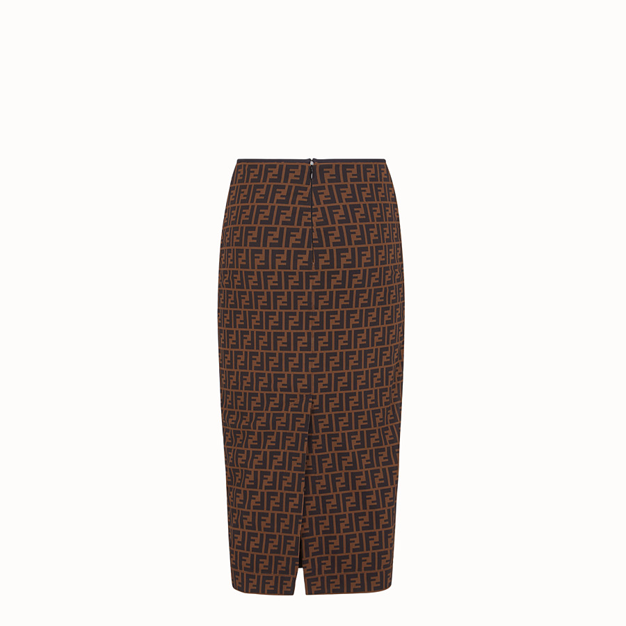 FENDI SKIRT - Brown micro mesh skirt - view 2 detail