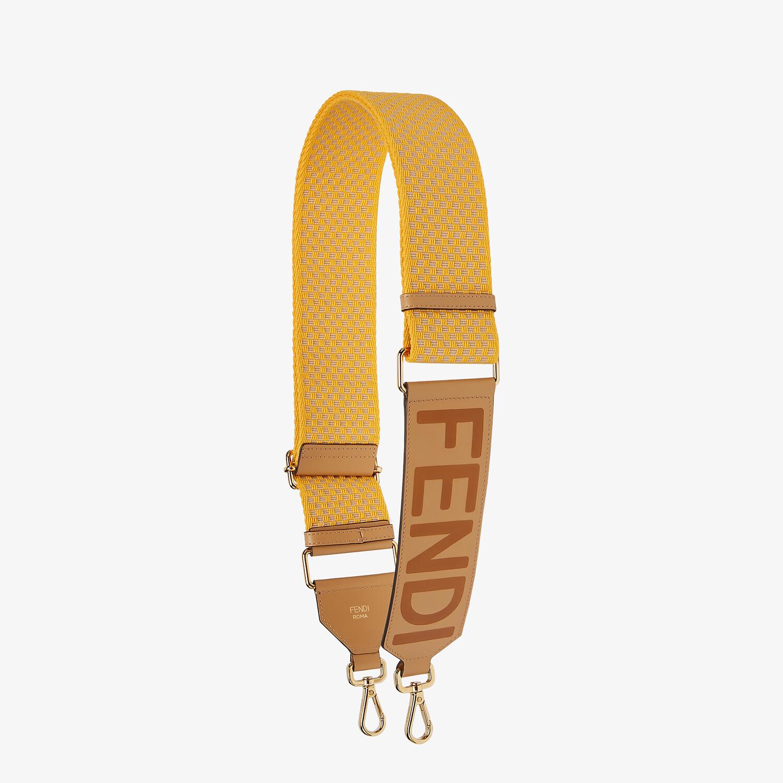 FENDI STRAP YOU - Yellow ribbon shoulder strap - view 1 detail