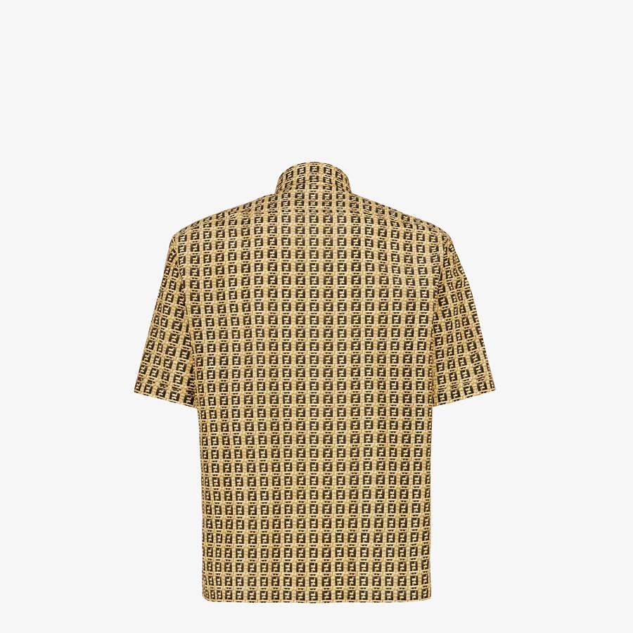 FENDI SHIRT - Beige viscose shirt - view 2 detail