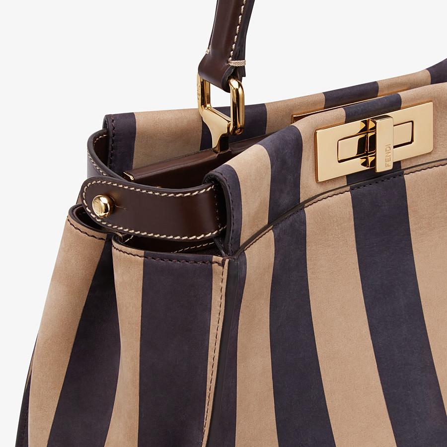 FENDI PEEKABOO ICONIC MEDIUM - Brown nubuck leather bag - view 6 detail