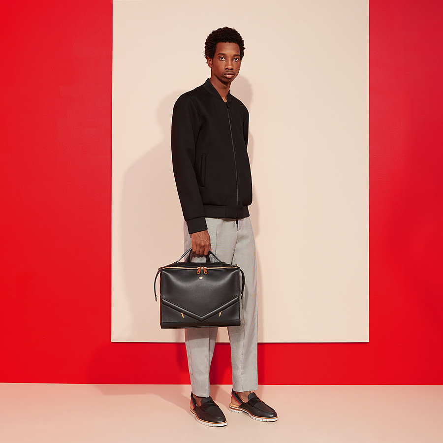 FENDI LUI BAG - Black leather bag - view 5 detail