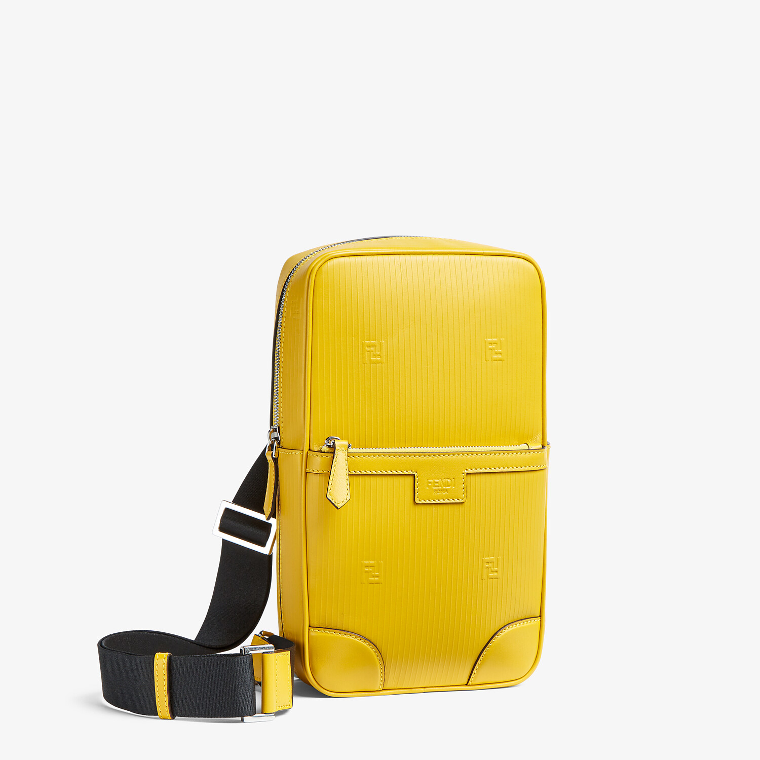 FENDI ONE-SHOULDER TRAVEL BACKPACK - Yellow leather backpack - view 2 detail