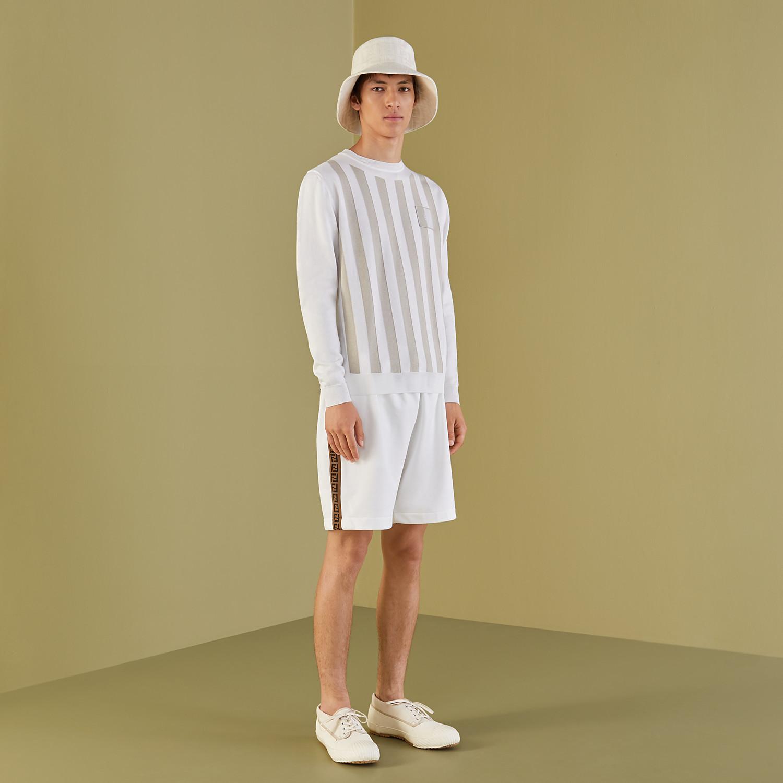 FENDI SWEATER - White cotton sweater - view 4 detail