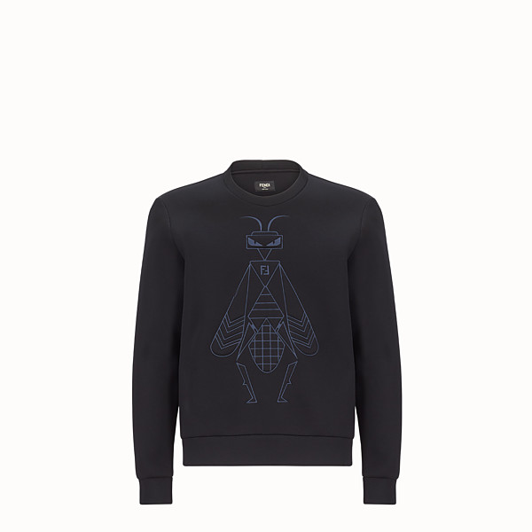 FENDI SWEAT-SHIRT - Pull en jersey de coton noir - view 1 small thumbnail