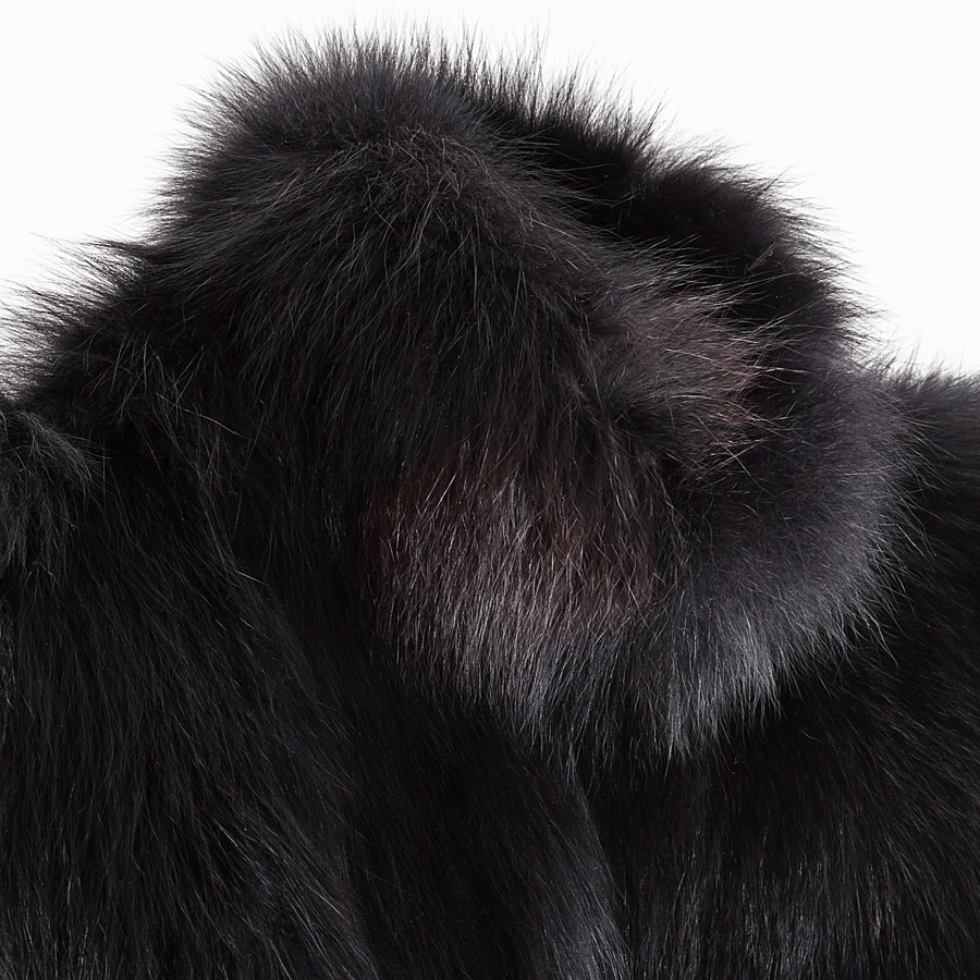 FENDI CAPE - Black fur cape - view 3 detail