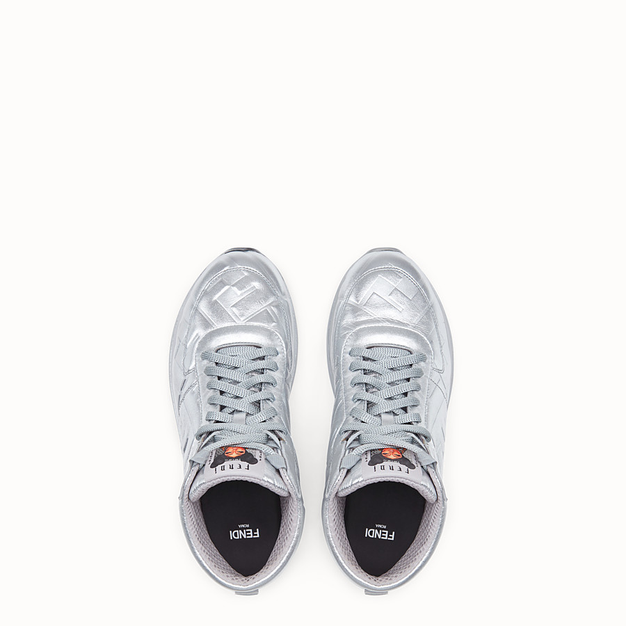 FENDI SNEAKERS - Fendi Prints On nappa leather high-tops - view 4 detail