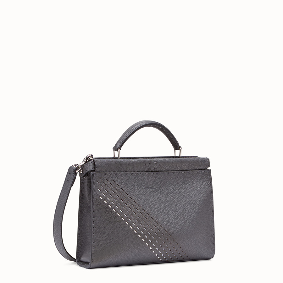 FENDI PEEKABOO ICONIC FIT MINI - Grey calf leather bag - view 2 detail