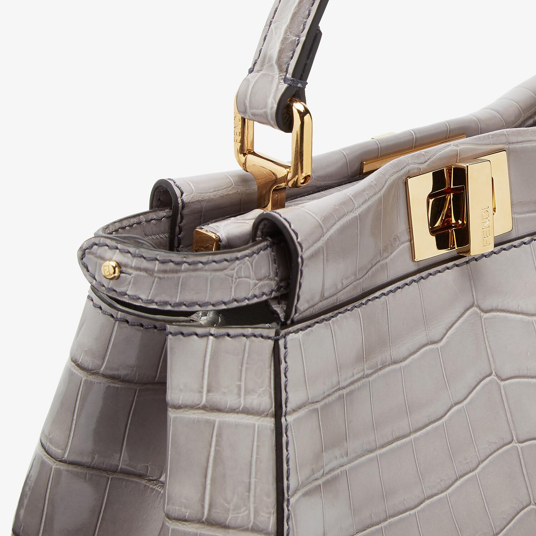 FENDI PEEKABOO MINI - Grey crocodile bag - view 5 detail