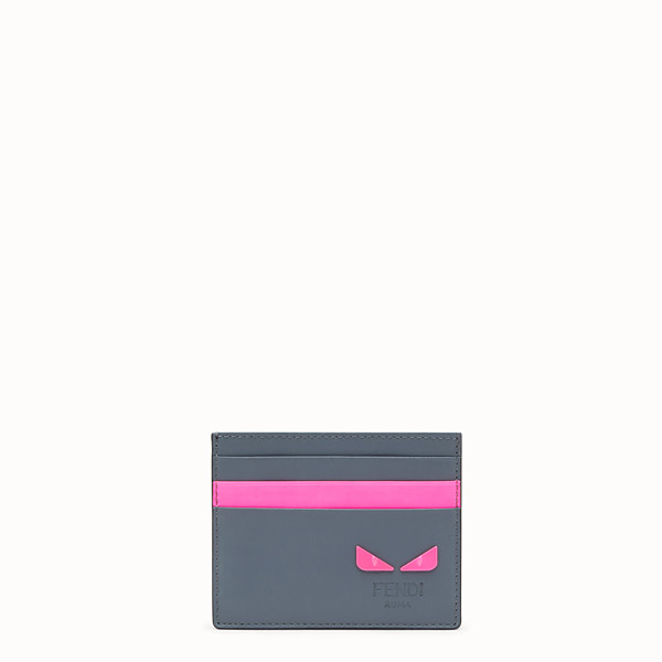 FENDI CARD HOLDER - Gray leather card holder - view 1 small thumbnail
