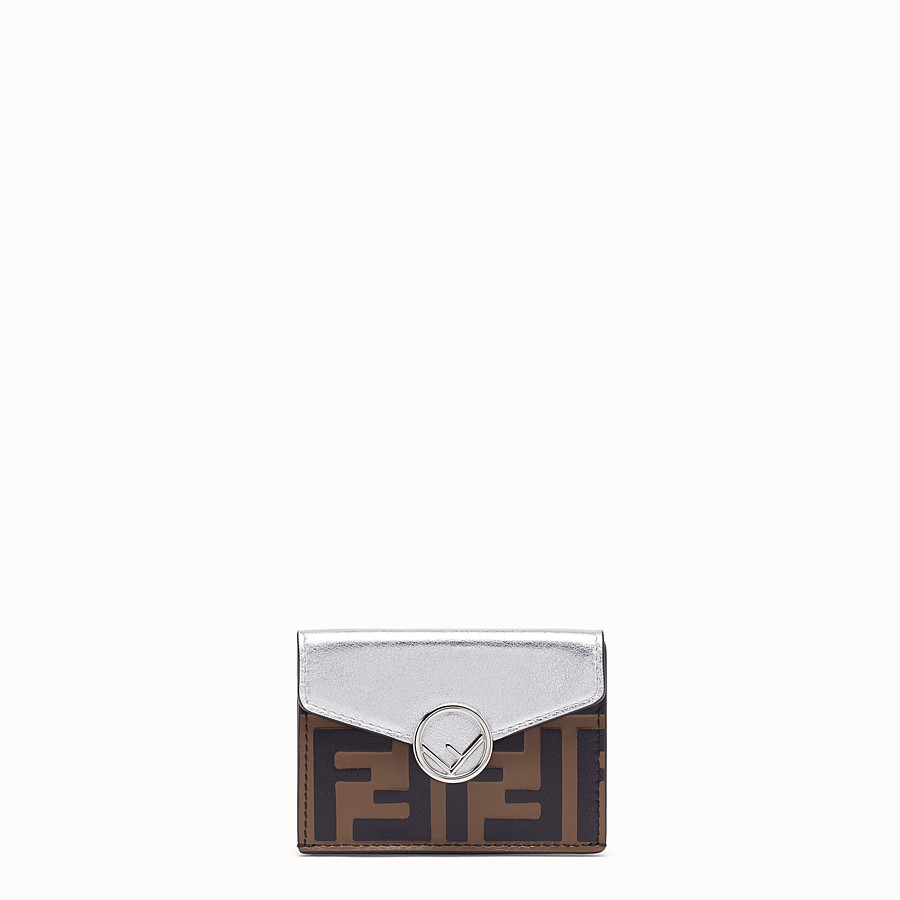FENDI MICRO TRIFOLD - Silver leather wallet - view 1 detail