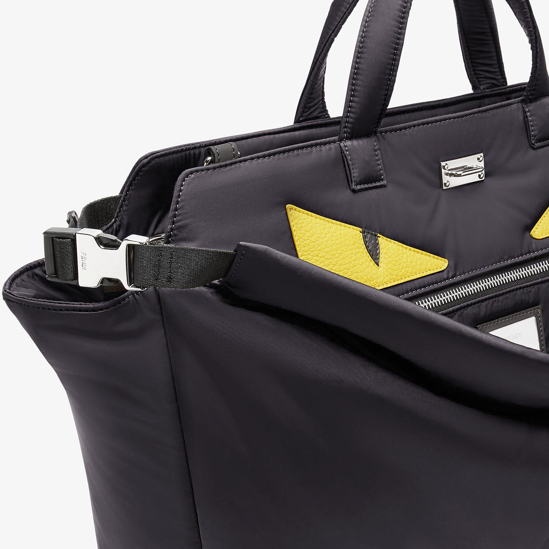 FENDI PEEKABOO ICONIC MEDIUM - Black nylon bag - view 6 detail