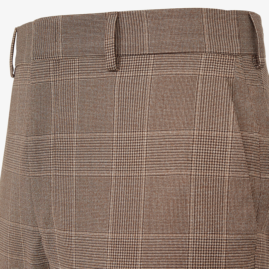 FENDI PANTS - Prince of Wales check wool pants - view 3 detail