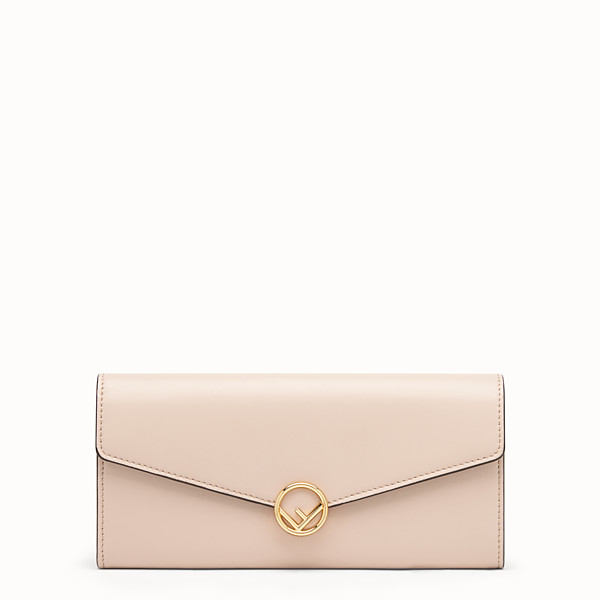 FENDI PORTEFEUILLE CONTINENTAL - Portefeuille en cuir rose - view 1 small thumbnail