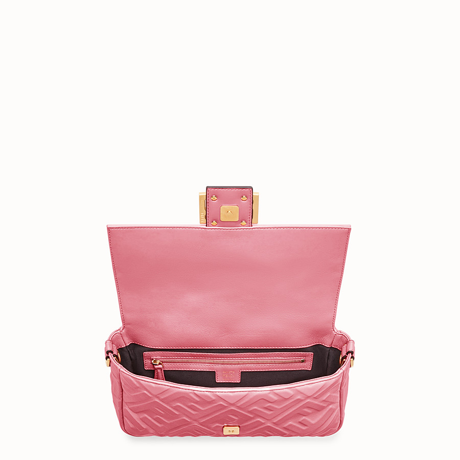 FENDI BAGUETTE - Sac en cuir rose - view 4 detail